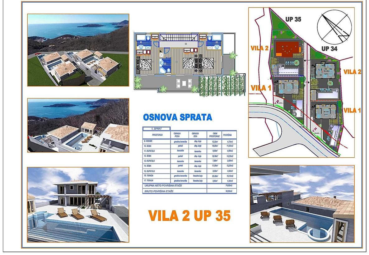 Osnova sprata vila 2 UP 35